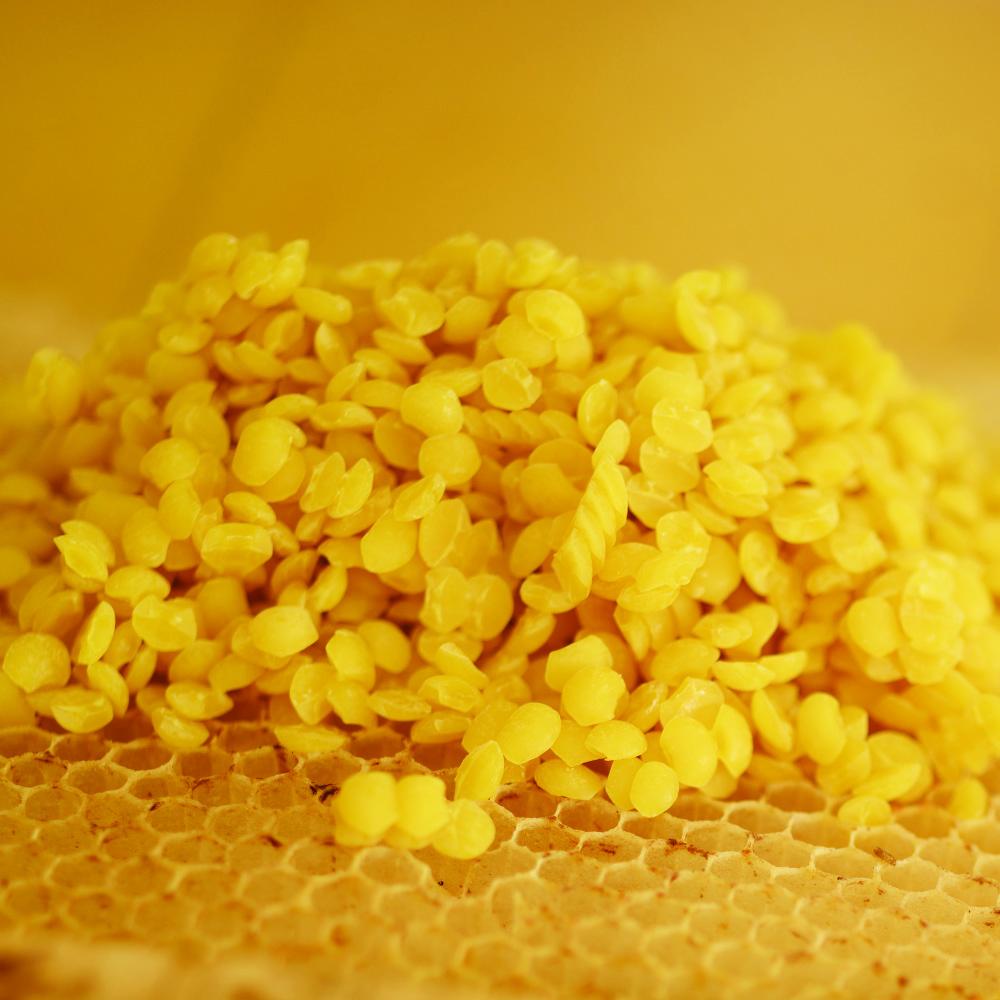 perles de cire d'abeille bio